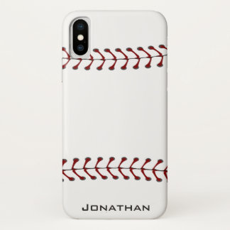 Capa Para iPhone X Caso de costura do iPhone X do design do basebol