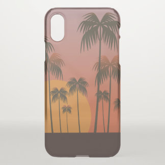 Capa Para iPhone X Caso do iPhone tropical sereno X do por do sol &
