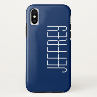 Capa Para iPhone X caso do iPhone X, azul escuro e branco,