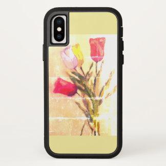 Capa Para iPhone X caso do iPhone X com buquê das tulipas