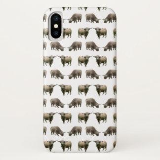 Capa Para iPhone X Caso do iPhone X da agitação da vaca das montanhas