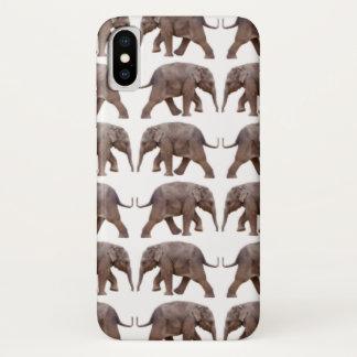 Capa Para iPhone X Caso do iPhone X da agitação do elefante do bebê