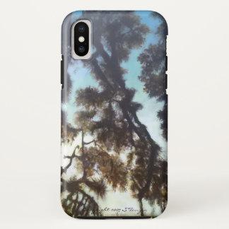 Capa Para iPhone X Caso do iphone X da árvore & do céu