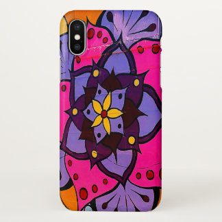 Capa Para iPhone X Caso do iPhone X da mandala da flor