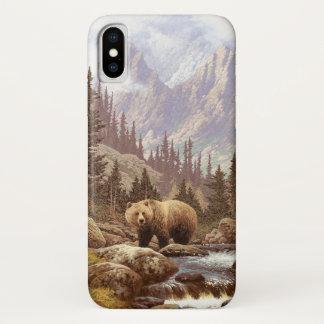 Capa Para iPhone X Caso do iPhone X da paisagem do urso de urso