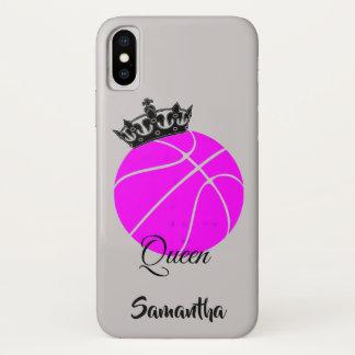 Capa Para iPhone X Caso do iphone x da rainha do basquetebol