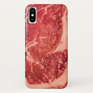 Capa Para iPhone X Caso do iPhone X da textura do bife de Ribeye da