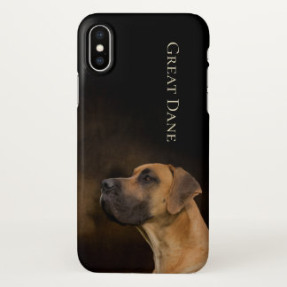 Capa Para iPhone X Caso do iPhone X de great dane