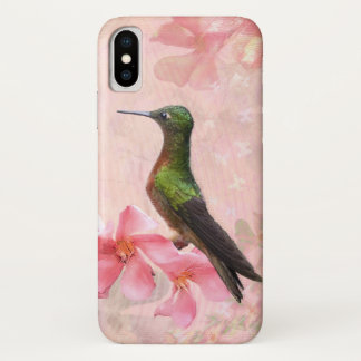 Capa Para iPhone X Caso do iPhone X de Primavera Rosa