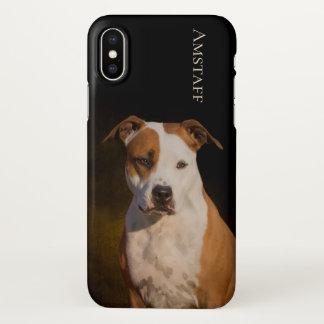 Capa Para iPhone X Caso do iPhone X de Staffordshire Terrier