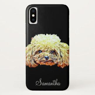 Capa Para iPhone X Caso do iPhone X do cão de caniche do brinquedo