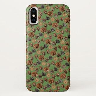 Capa Para iPhone X Caso do iPhone X do cone do pinho