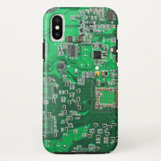 Capa Para iPhone X Caso do iPhone X do conselho de circuito do geek