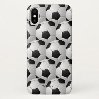 Capa Para iPhone X Caso do iPhone X do design das bolas de futebol