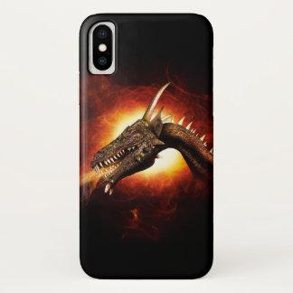 Capa Para iPhone X Caso do iPhone X do dragão do plasma