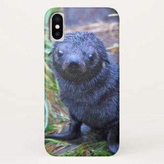 Capa Para iPhone X Caso do iPhone X do filhote de cachorro de selo