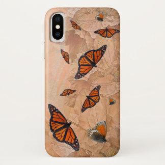 Capa Para iPhone X Caso do iPhone X do jardim da borboleta