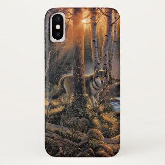 Capa Para iPhone X Caso do iPhone X do lobo da floresta