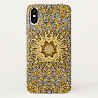 Capa Para iPhone X Caso do iPhone X do metal precioso mal lá