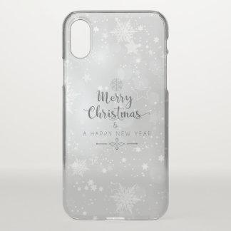 Capa Para iPhone X Caso do iPhone X do Natal de prata elegante & do