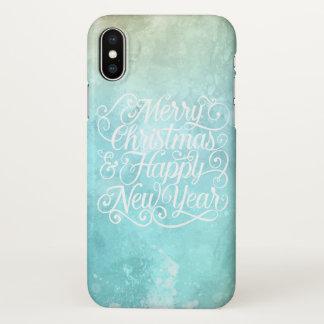 Capa Para iPhone X Caso do iPhone X do Natal elegante e do ano novo |