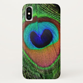 Capa Para iPhone X Caso do iPhone X do olho do pavão