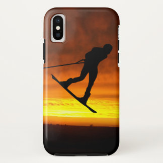 Capa Para iPhone X Caso do iPhone X do por do sol de Wakeboard