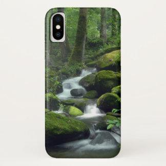 Capa Para iPhone X Caso do iPhone X do ribeiro da floresta do verão