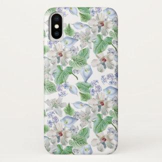 Capa Para iPhone X Caso do iPhone X do teste padrão de flor da