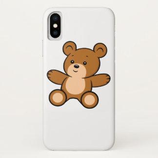 Capa Para iPhone X Caso do iPhone X do urso de ursinho dos desenhos