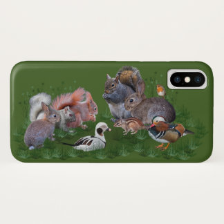 Capa Para iPhone X Caso do iPhone X dos animais da floresta