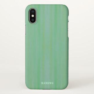 Capa Para iPhone X Caso do telemóvel de HAMbyWG - luz - lavagem verde