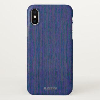 Capa Para iPhone X Caso do telemóvel de HAMbyWG - mistura azul