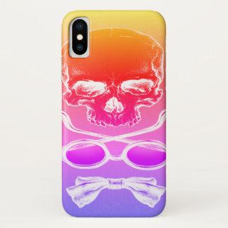 Capa Para iPhone X Caso do tempo do crânio do nascer do sol do