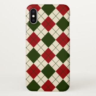 Capa Para iPhone X Caso elegante do iPhone X do teste padrão do Natal