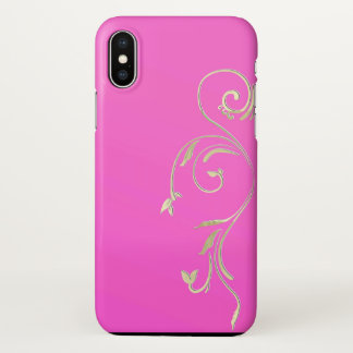 Capa Para iPhone X caso embellished x do rosa do ouro do iphone