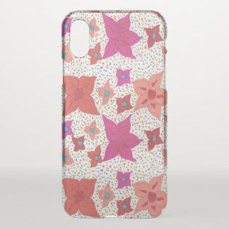 Capa Para iPhone X Caso floral corajoso do iPhone x do espaço livre