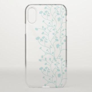 Capa Para iPhone X Caso floral minimalista elegante do iPhone X das