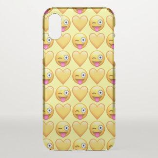 Capa Para iPhone X Caso pateta do iPhone X Clearly™ de Emoji