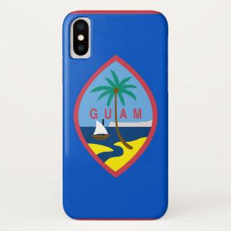 Capa Para iPhone X Caso patriótico de Iphone X com a bandeira de Guam