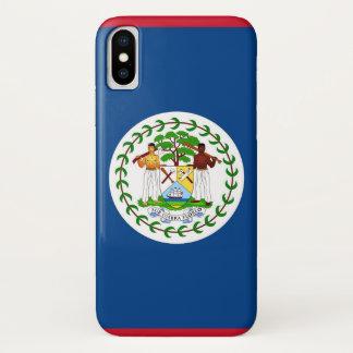 Capa Para iPhone X Caso patriótico de Iphone X com bandeira de Belize