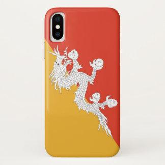 Capa Para iPhone X Caso patriótico de Iphone X com bandeira de Bhutan