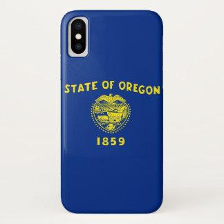 Capa Para iPhone X Caso patriótico de Iphone X com bandeira de Oregon