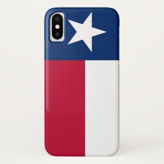 Capa Para iPhone X Caso patriótico de Iphone X com bandeira de Texas