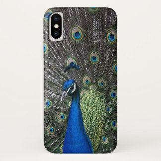 Capa Para iPhone X Caso pintado do iPhone X do pavão