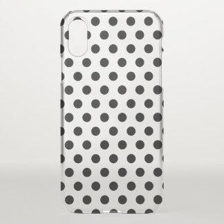 Capa Para iPhone X caso Polkadots do iPhone X claramente