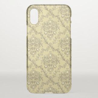 Capa Para iPhone X Caso raro do iPhone X do damasco elegante do ouro