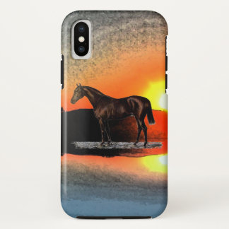 Capa Para iPhone X Cavalo de Brown