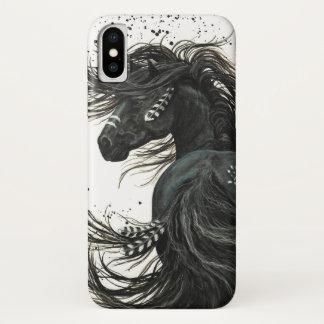 Capa Para iPhone X Cavalo majestoso do espírito por Bihrle