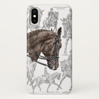 Capa Para iPhone X Cavalos recolhidos FEI do adestramento